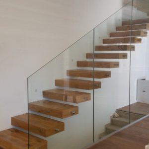מעקה זכוכית מדרגות מרחפות 1