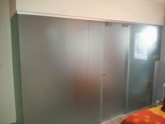 מקלחון חזית מזכוכית 4